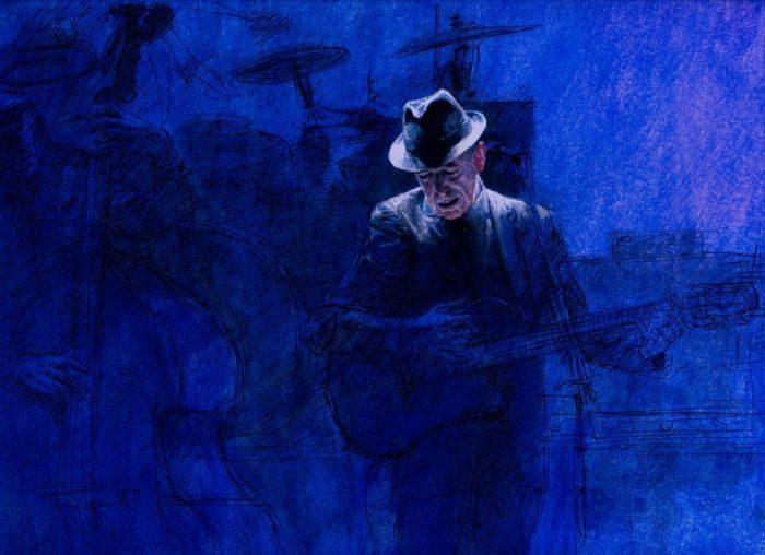Leonard Cohen - art by Luis Garcia Mozos