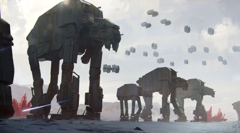 Star Wars: The Last Jedi - production art by Kevin Jenkins. Image TM & © Lucasfilm Ltd. All Rights Reserved