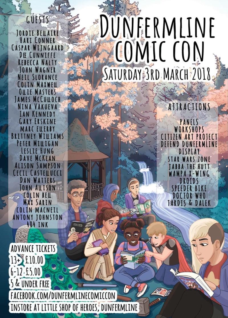 Dunfermline Comic Con 2018 Poster