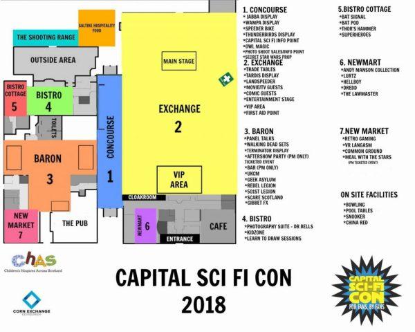 Capital Sci-Fi Con - Map