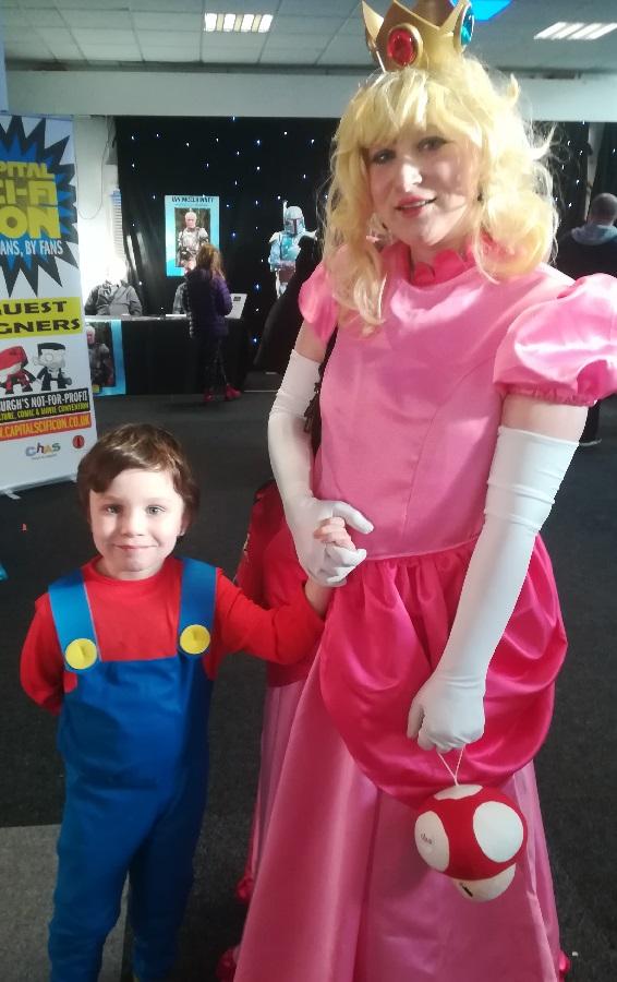 Princess Peach and Mario cosplay. Photo: Colin Noble