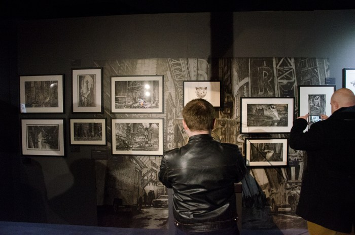Concept art on display as part of DC Exhibition: Dawn of Super Heroes. Image: Joel Meadows