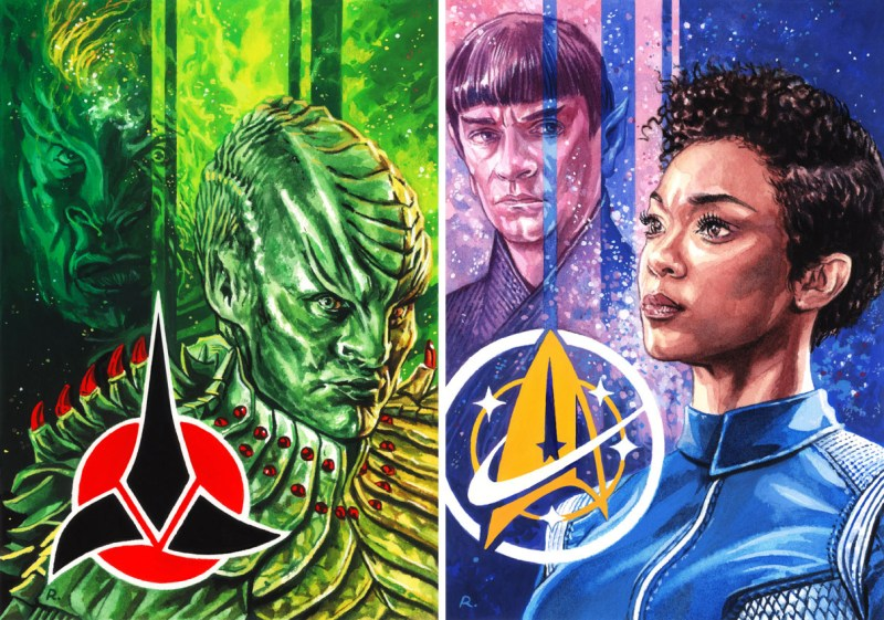 Star Trek art by Graeme Neil Reid