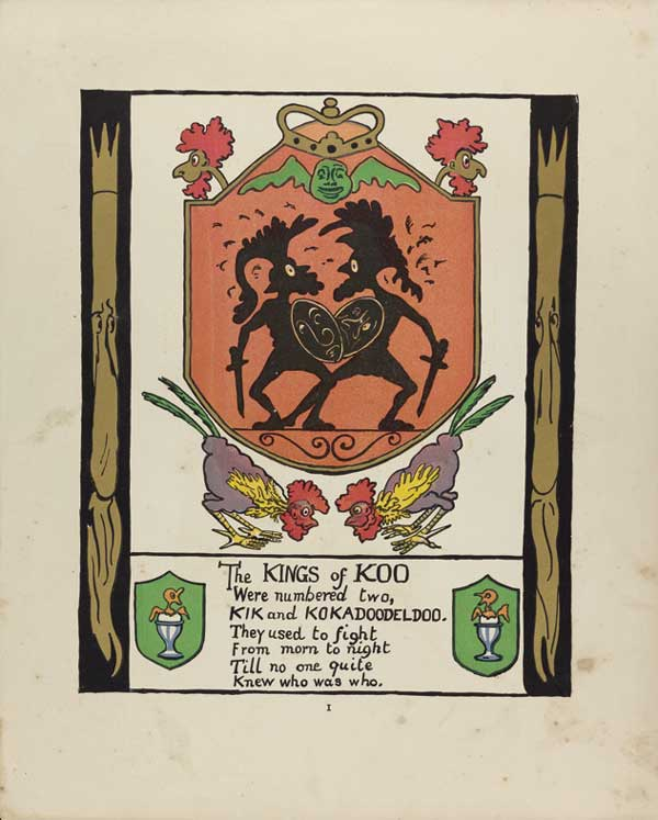 "Art by Marie Duval for ""The Kings of Koo"" Queens and Kings and Other Things, p82. Chato and Windus, London."