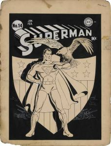 Cover art for Superman #14 by Fred Ray, published in 1942