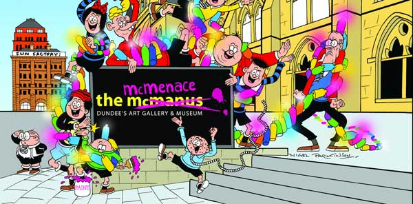 Dundee's McManus Gallery becomes the McMenace Gallery as Beano celebrates 80th anniversary