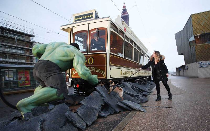 The Hulk in Blackpool - Madame Tussauds - Pug