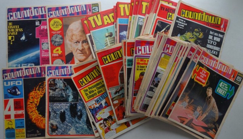 Countdown and TV Action comics offered by Phil Comics auctioneers