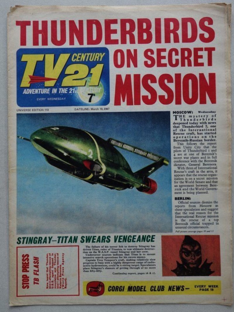 TV321 Issue 113 - featuring Thunderbirds cover