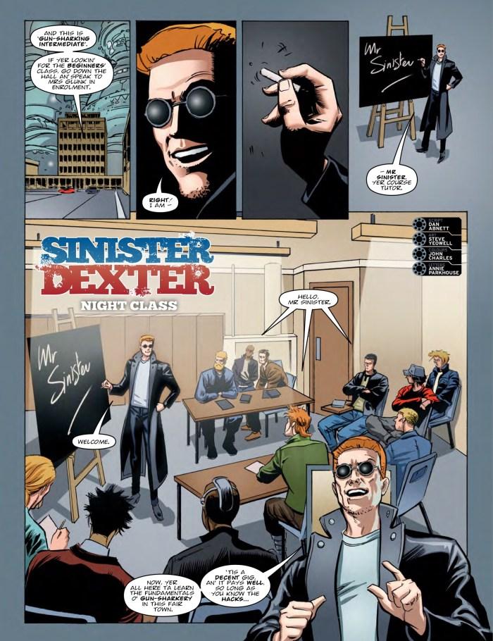 2000AD Prog 2074 - Sinister Dexter