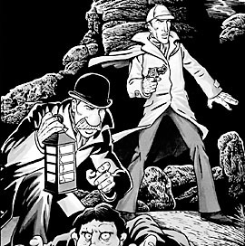 A panel from The Hound of the Baskervilles by Tim Quinn and George Sears