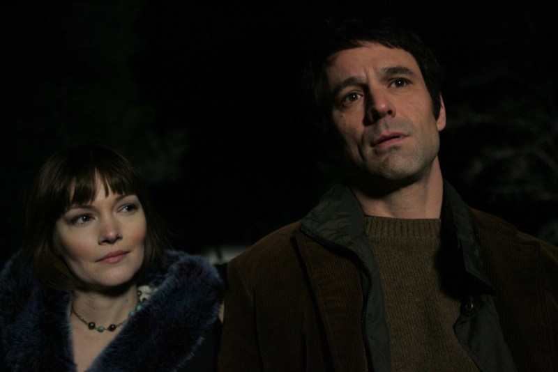 Annika Petersen (as Sandy) and David Lee Smith (as John Oldman) in The Man from Earth