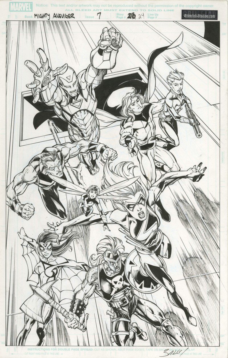 Mighty Avengers (#7) splash by Mark Bagley