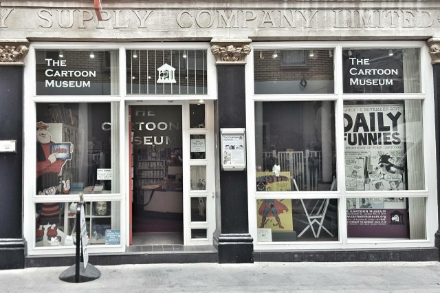 The current Cartoon Museum, in London's Little Russell Street. Image: the Cartoon Musuem