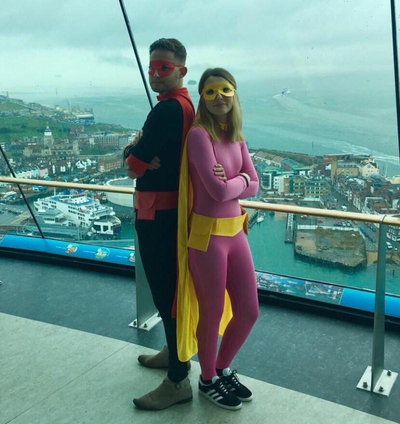 Portsmouth Comic Con - Captain Comic Con and Girl Wonder