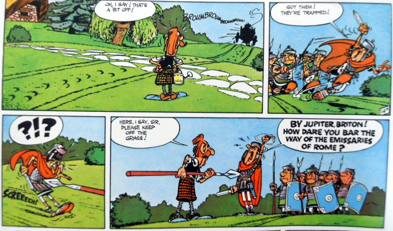 A scene from Asterix in Britain. © Les Editions Albert René