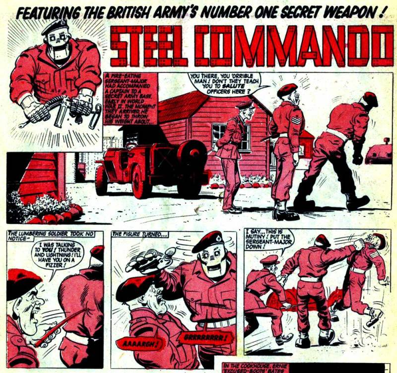 The Steel Commando's debut in Thunder Issue One