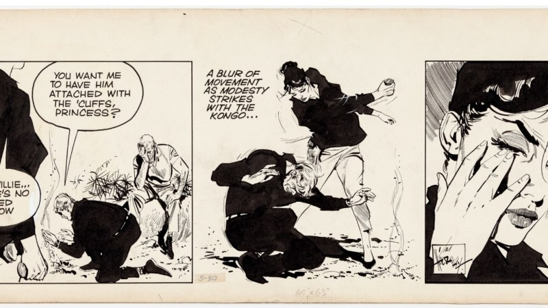 Modesty Blaise fan? A Jim Holdaway original is up for sale