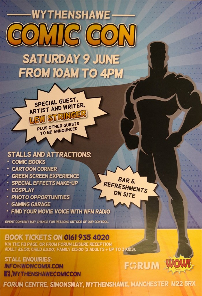 Wythenshawe Comic Con 2018 Flyer 1