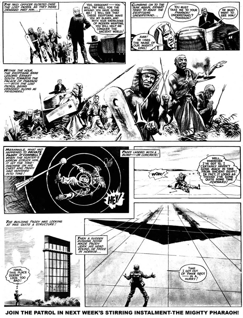 A page of Phantom Patrol from Swift, cover dated 28th April 1962