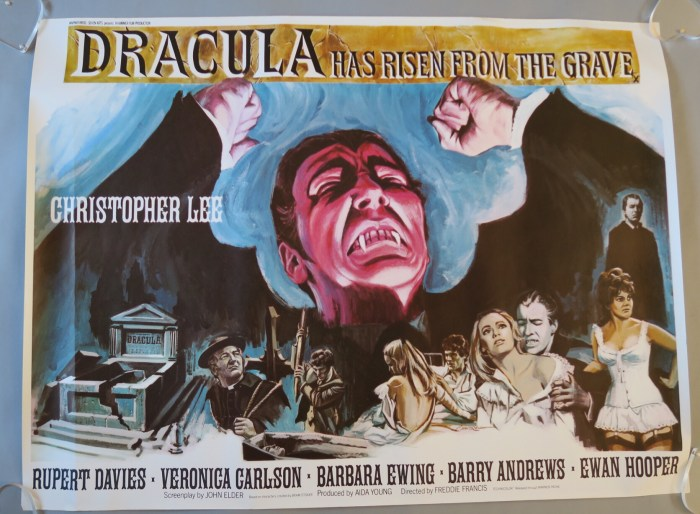 Dracula has Risen from the Grave - art by Tom Chantrell