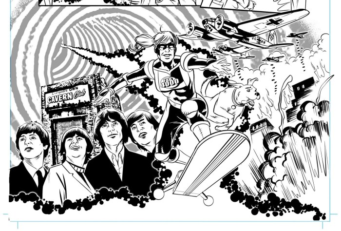 Art by Russ Leach from the latest FAB 4000 comic