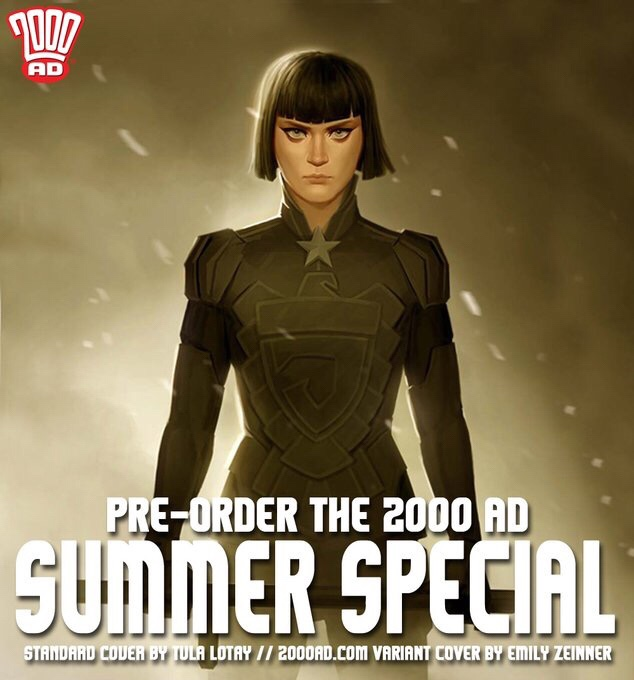 Emily Zeinner's 2000AD Summer Special 2018 variant cover