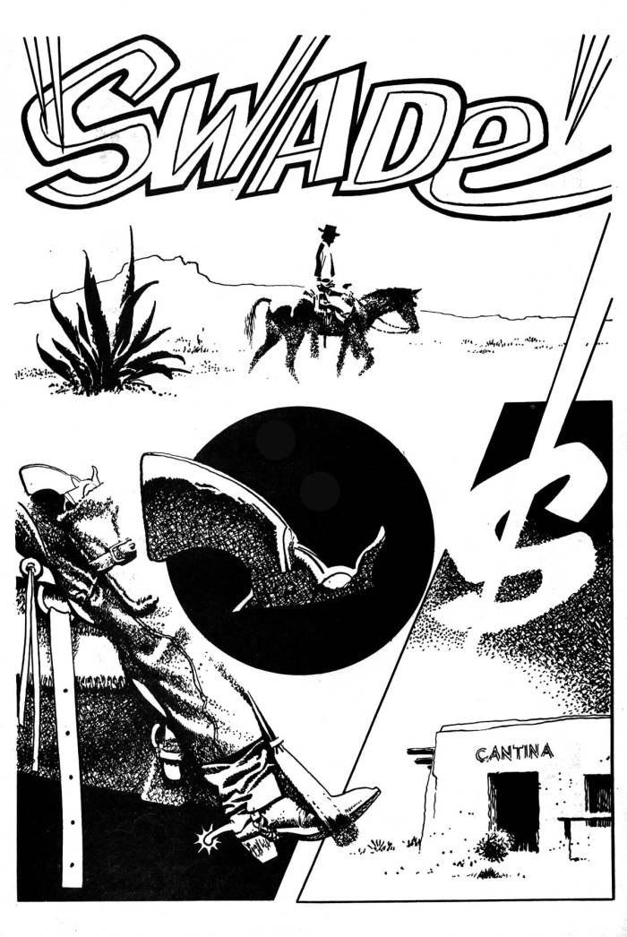 """Ally Sloper Issue One - """"Swade"""" Page One by Frank Bellamy"""