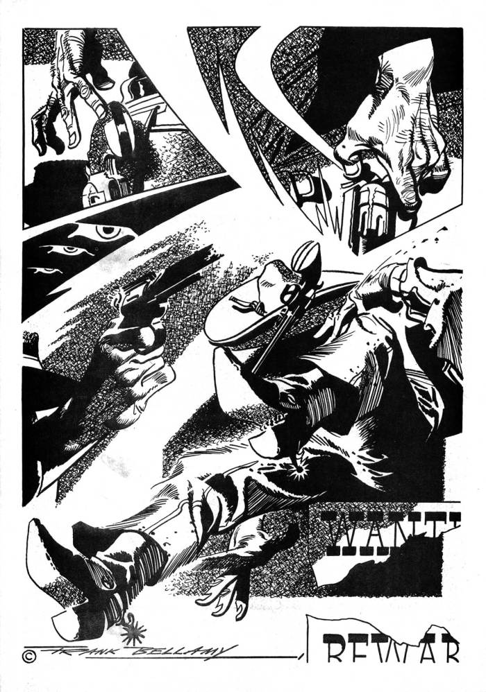 """Ally Sloper Issue One - """"Swade"""" Page Three by Frank Bellamy"""