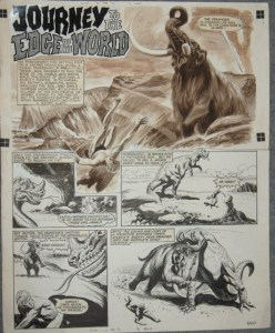 """An opening page of """"Journey_to the Edge of the World"""" published in February 1964 in Lion. Via ComicArtFans"""
