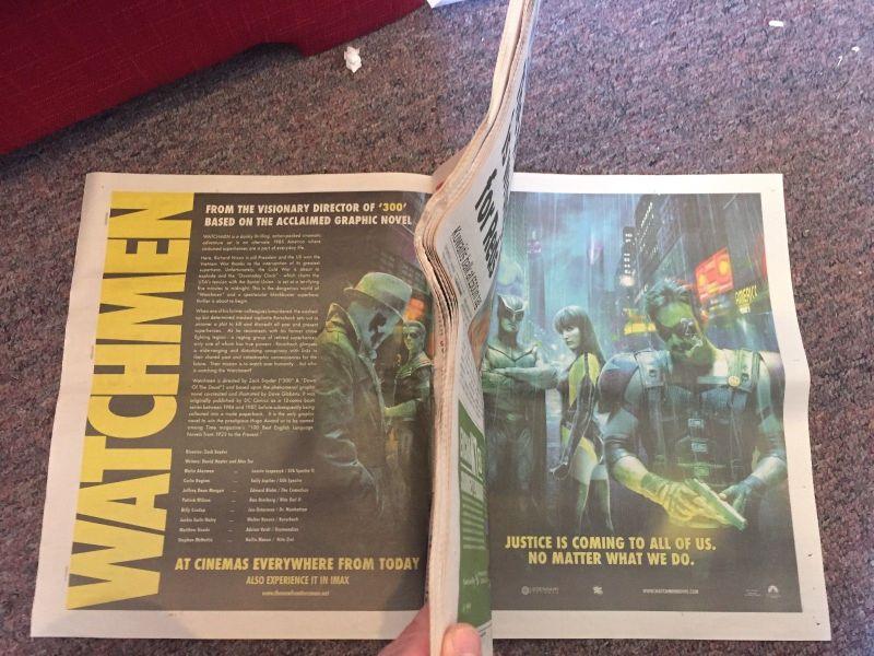 Metro Watchmen Newspaper - Interior
