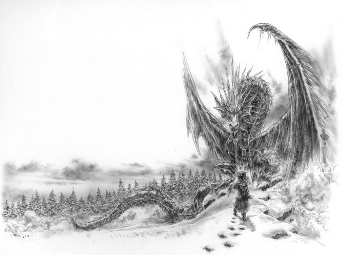 The Ice Dragon by Luis Royo