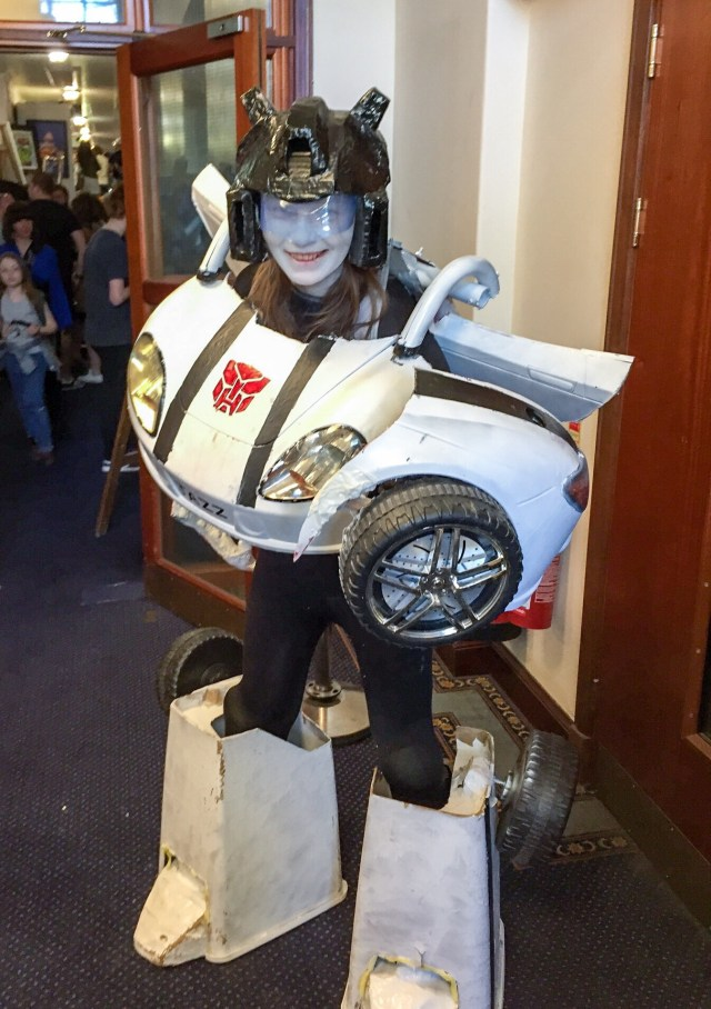 Cosplayer Sarah Gale got my vote as most ambitious cosplayers at the inaugural Portsmouth Comic Con for her Transformers-inspired costume