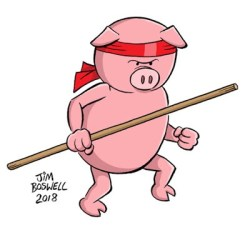 Stick Pig © Jim Boswell 2018