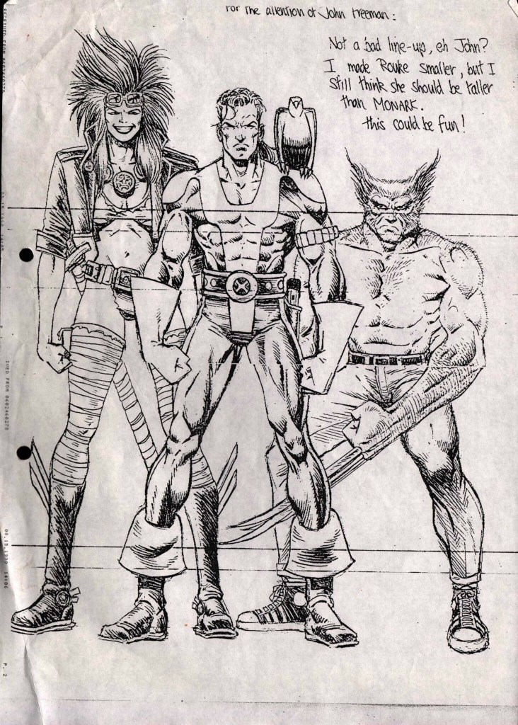 Rourke of the Radlands, Monark Starstalker and Wolverine - art by Liam Sharp