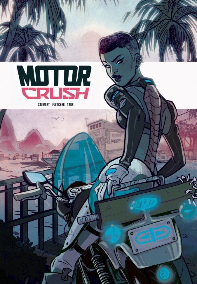 Motor Crush Print for Travelling Man at SDCC by Babs Tarr
