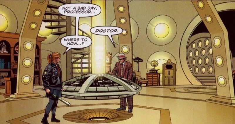 "A panel from the Doctor Who story ""Doctor Who - Armageddon Gambit"", written by John Freeman, art by Christopher Jones, colour by Marco Lesko"
