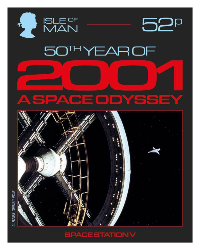 50 Years of 2001: A Space Odyssey - Isle of Man Stamps - Space Station V