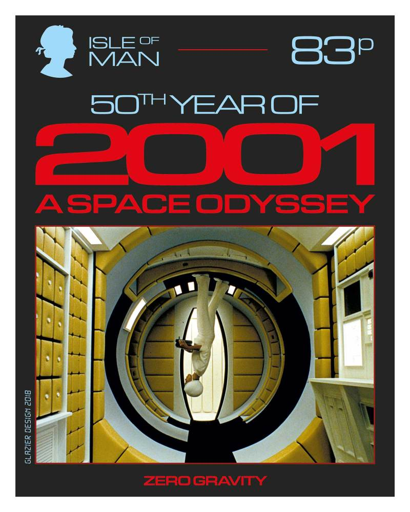 50 Years of 2001: A Space Odyssey - Isle of Man Stamps - Zero Gravity