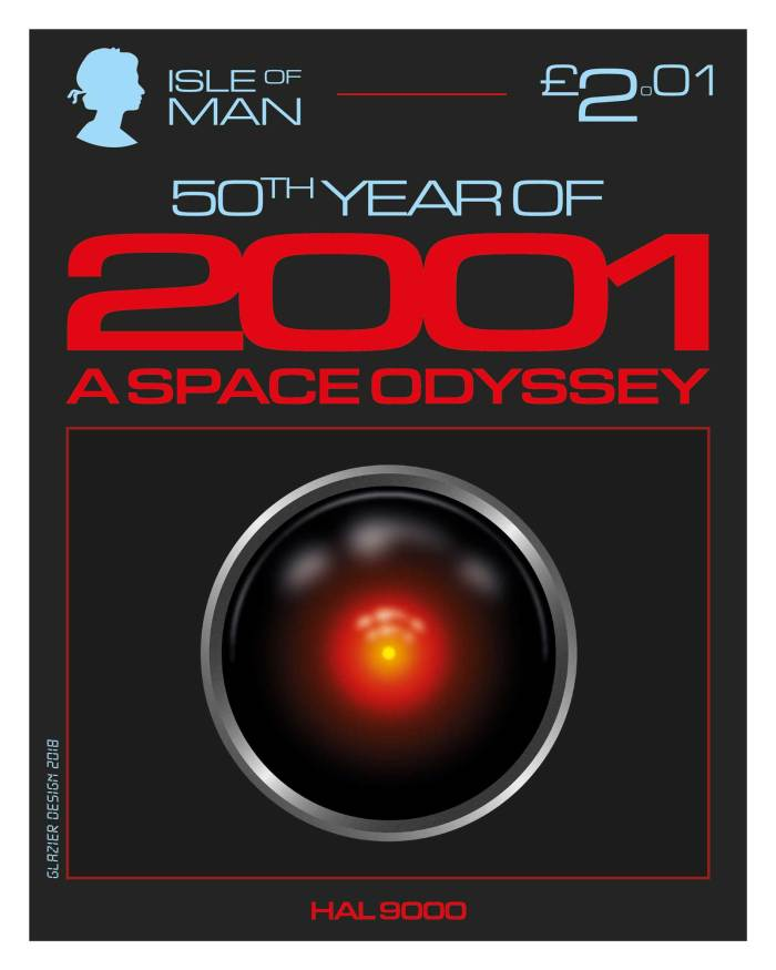 50 Years of 2001: A Space Odyssey - Isle of Man Stamps - Hal