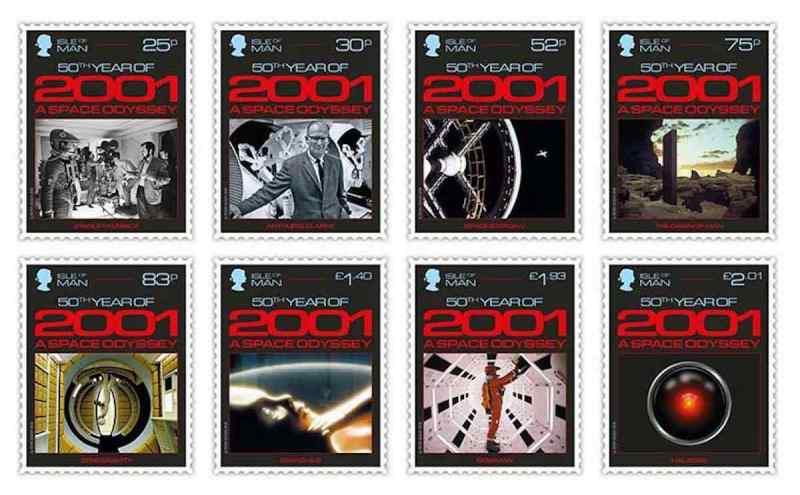 50 Years of 2001: A Space Odyssey - Isle of Man Stamps