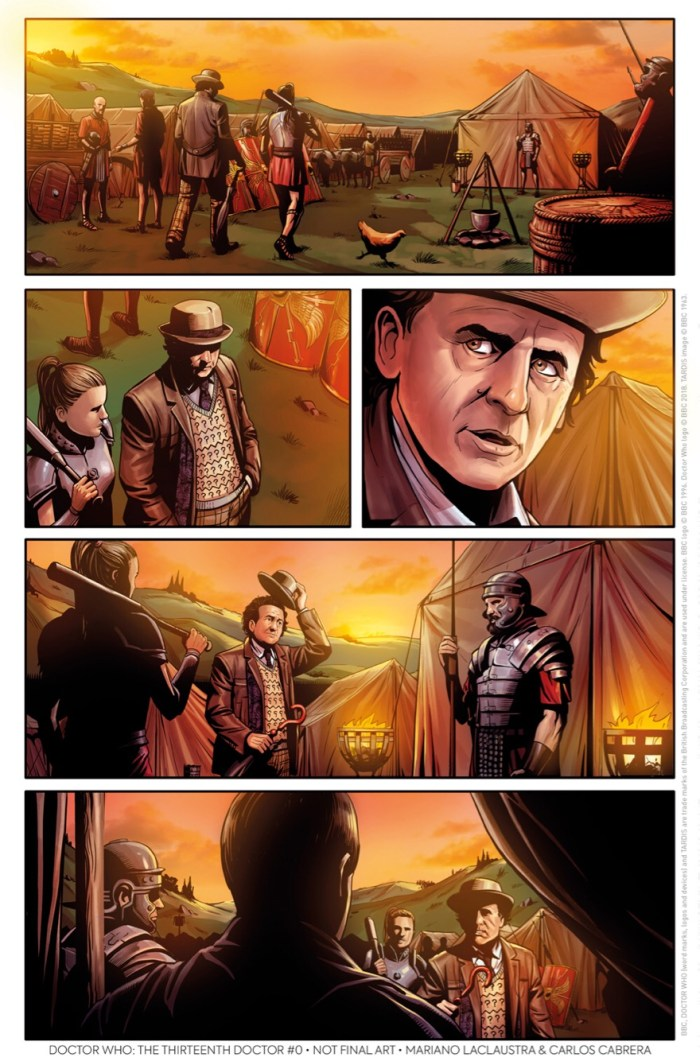 Doctor Who: The Thirteenth Doctor #0 – The Many Lives of Doctor Who Preview Page 3 – The Seventh Doctor by Mariano Laclaustra and Carlos Cabrera
