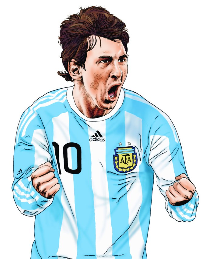 Playing for a Draw - Lionel Messi by Steve McGarry
