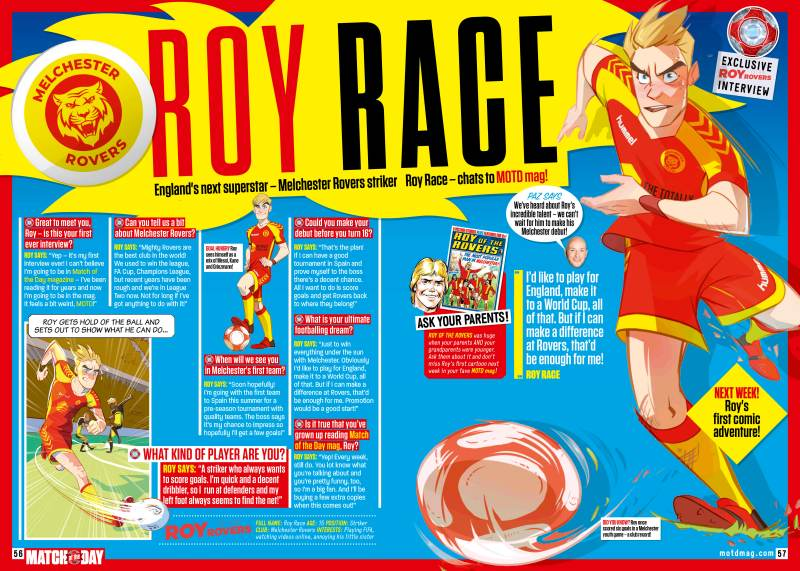 Match of the Day Magazine Issue 508 - Roy of the Rovers Interview