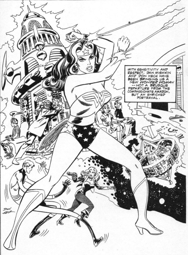 "Wonder Woman by Don Heck, published in a DC Comics ""Sampler"" back in 1983,reprinted in Alter Ego #13"