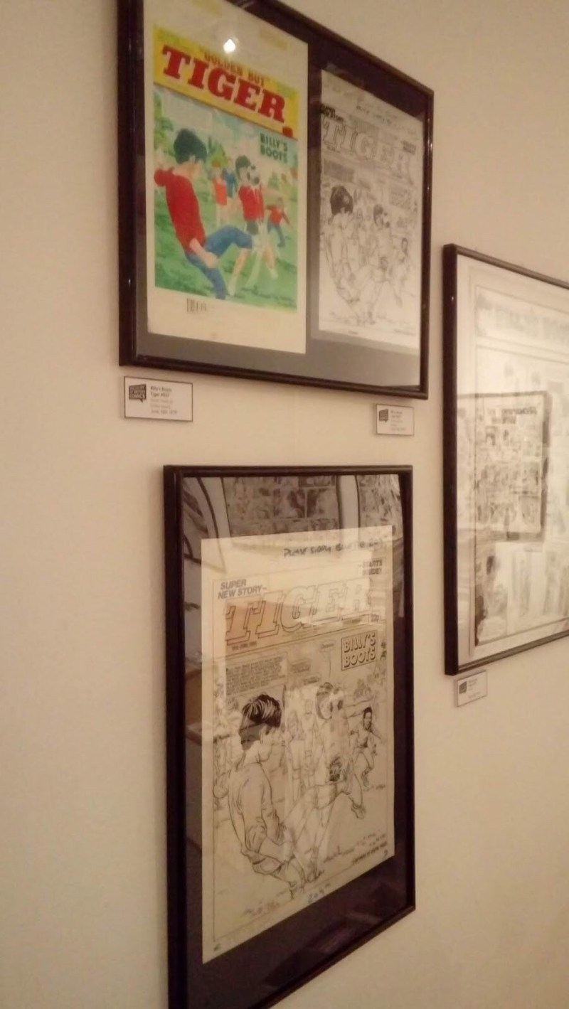 Treasury of British Comics - Orbital Comics Exhibition June 2018 - Tiger art