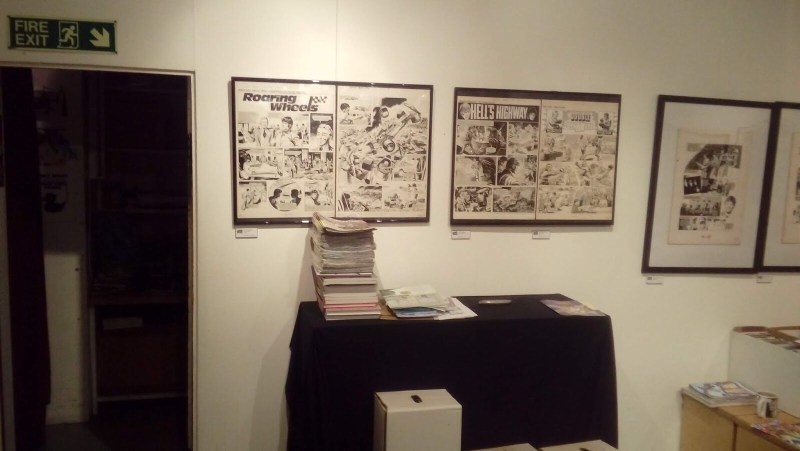 "Treasury of British Comics - Orbital Comics Exhibition June 2018 - ""Action"" art"
