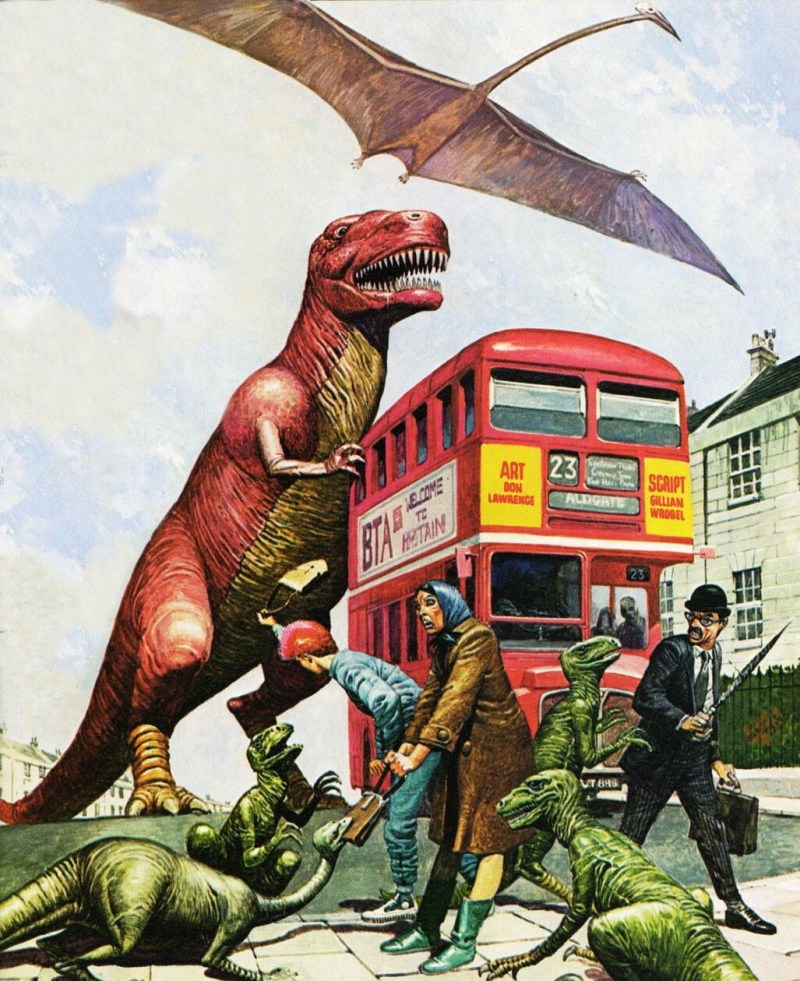 Dinosaurs invade London by Don Lawrence
