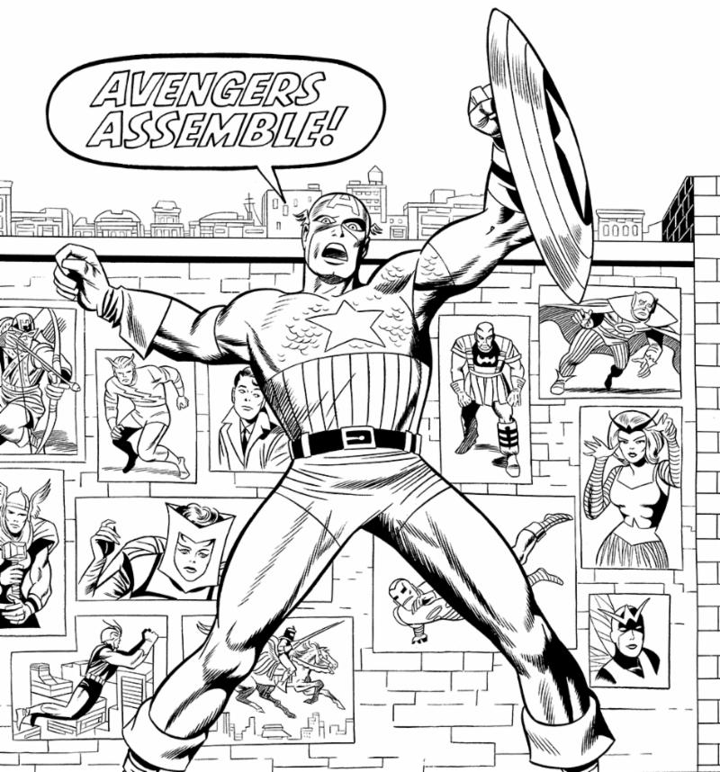 The Art of The Avengers and Other Heroes - Jack Kirby - Avengers Assemble