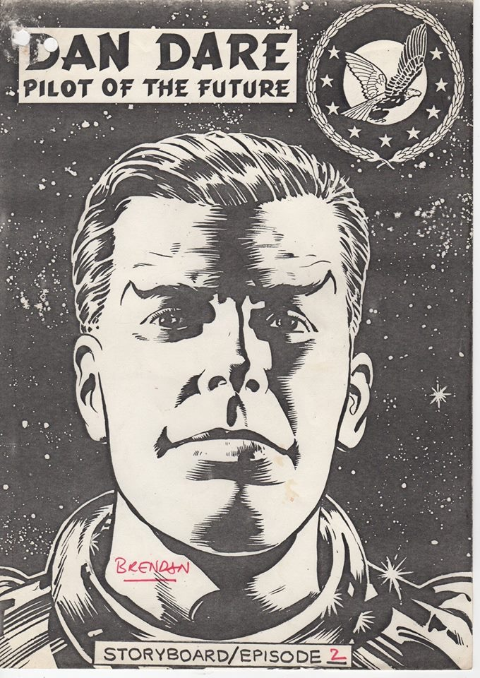 Brendan McCarthy's cover for the storyboards for episode 2 of the proposed ATV Dan Dare series. Image courtesy Dale Jackson